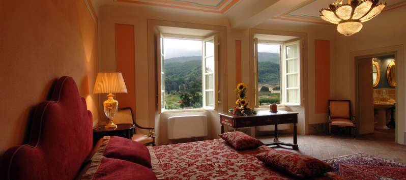 Villa Chiara double room overlooking to a glorious rolling countryside