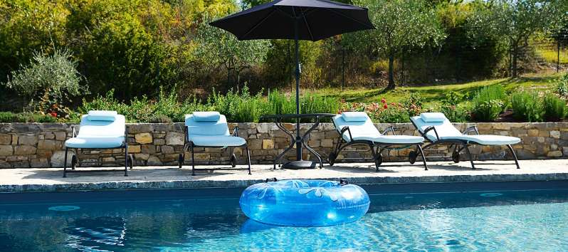 Villa Dioniso pool with remote controlled safety cover