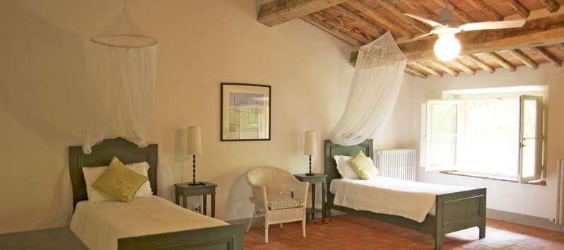 Villa Gelsomino twin bed double room