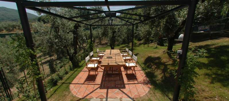 Villa Luna Pergola for outdoor eating
