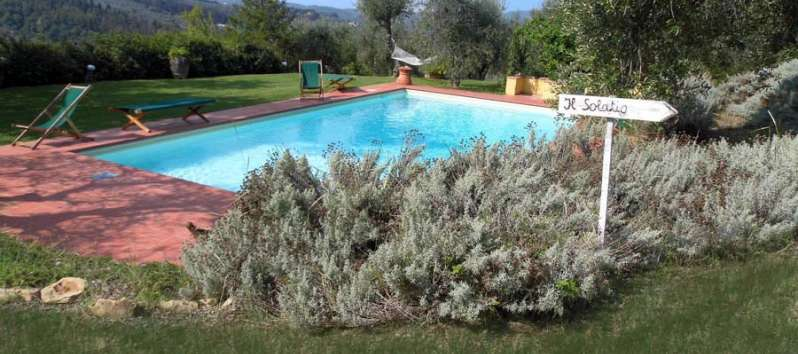 Villa Rustica garden and swimming pool