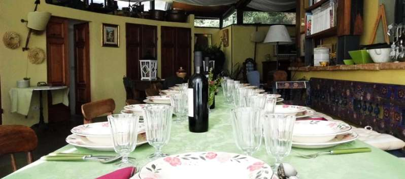 Villa rustica large dining room