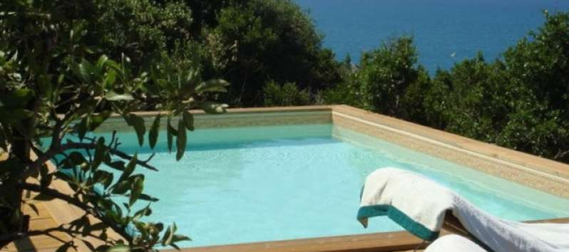 Villa Sara swimming pool with sea view