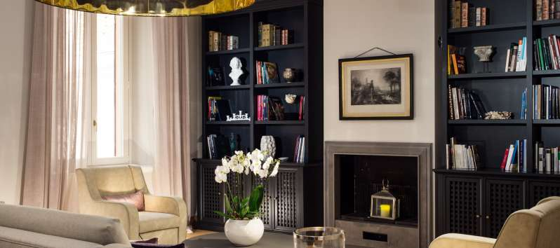 Living room detail with refined furniture