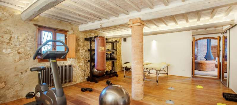 Equipped gym in the villa