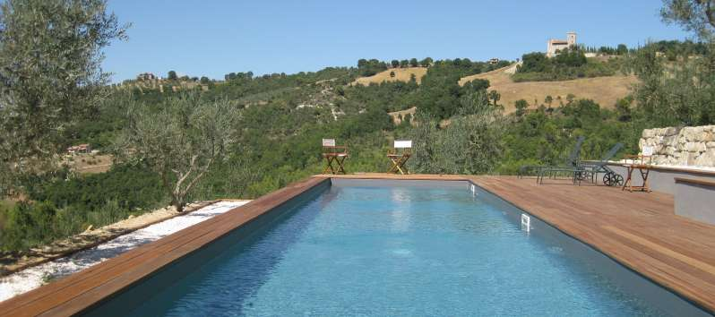 pool of the villa of Perugia