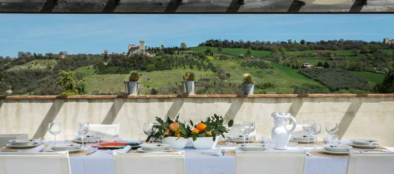dining table with a view of the Saonda villa