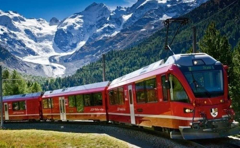 Bernina Express The Slowest And Most Beautiful Train In